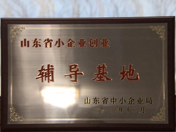 2013山东省小企业创业辅导基地